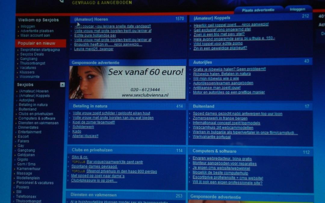De werkplek: sekswerk via internet: persoonlijke omstandigheden van de werkers: 3