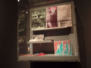 Showcase of the Red Thread in the Amsterdam Museum