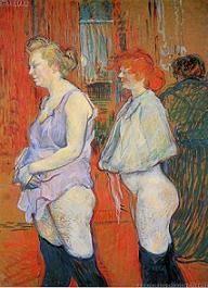 Medische controle, een schilderij van Toulouse-Lautrec