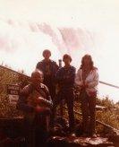 Dad in foreground, Wayne, Bruce, Jean
