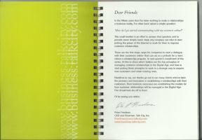 Booklet - Letter from CEO