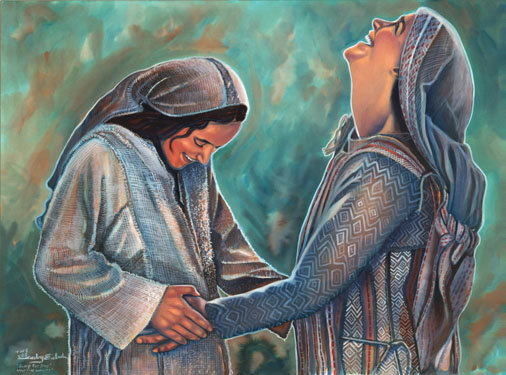 Jesus, when Elizabeth heard Mary's Greeting and the baby leaped in her womb