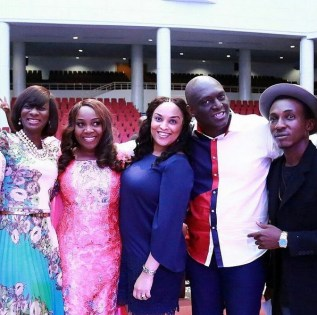 Kikee, Glowreeyah, Sammie Okposo and wife, Frank Edwards