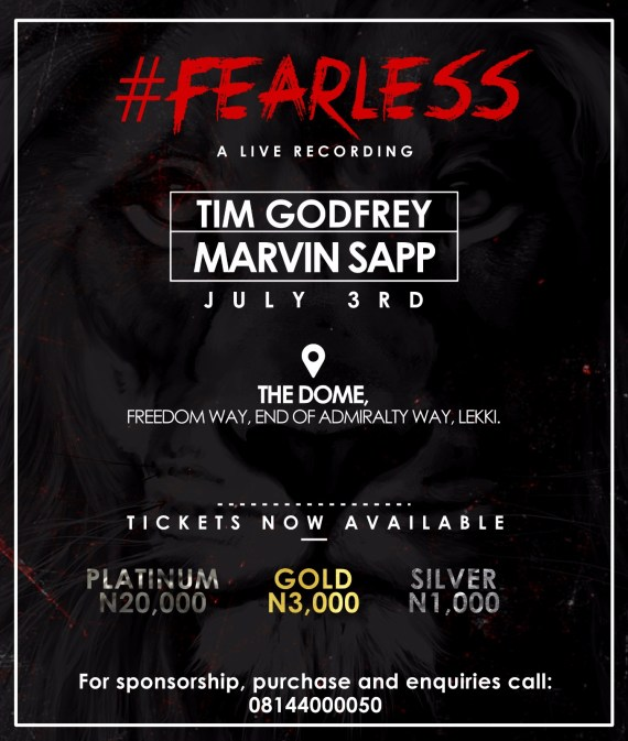 Tim Godfrey, Marvin Sapp, Fearless concert