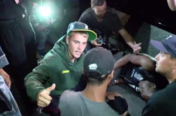Justin Bieber Hits Photographer