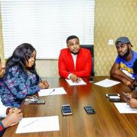 Tim Godfrey Signs Okey Sokay, IBK, SMJ & Blesyn To ROX Nation!