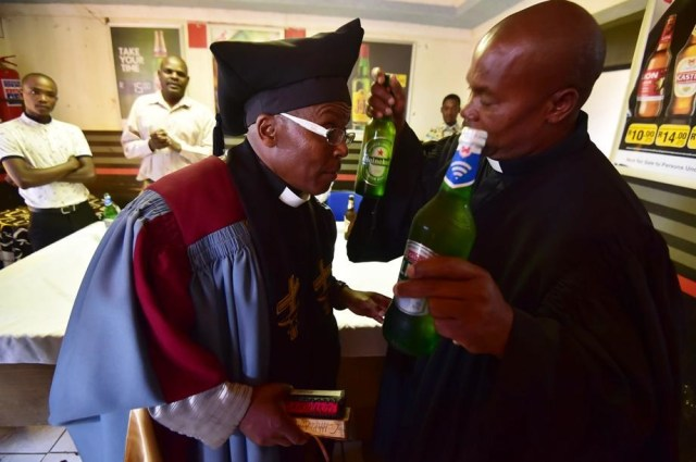 Pastor Serves Alcohol
