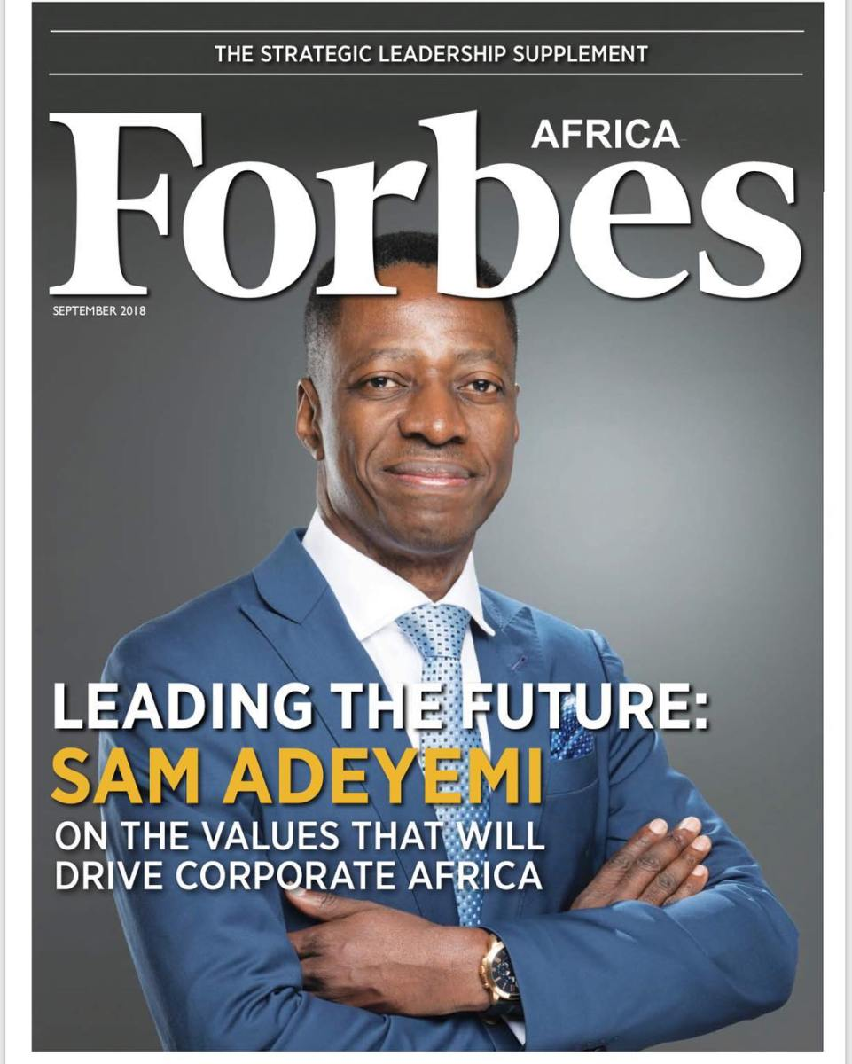 Sam Adeyemi Graces Cover Of Strategic Leadership Supplement To Forbes Africa's September Issue