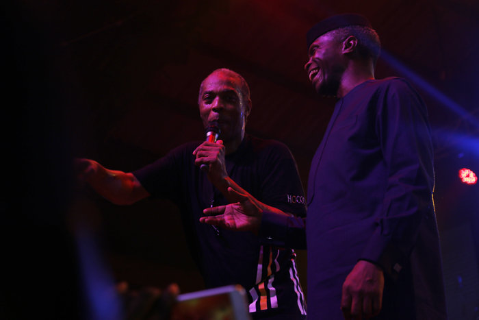 Osinbajo Prays At Felabration As Femi Kuti Publicly Declines To Support