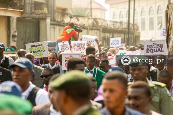 Adeboye peaceful protest