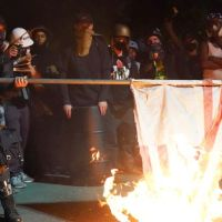 Black Lives Matter Protesters Burn Bibles, US Flag In Portland