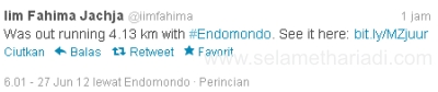 EndoMondo Twitter Iim Fahima Virtual Consulting-SelametHariadi.com