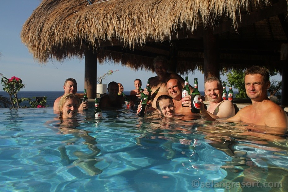 Pool party Selang resort