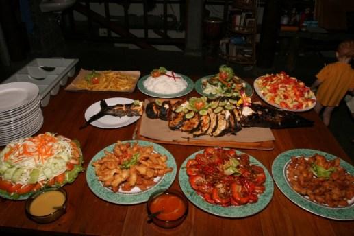 Večerní raut - dovolená na Bali