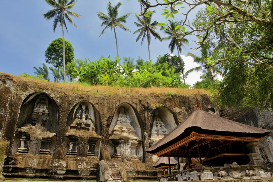 Ubud Gunung Kawi hrobky králů