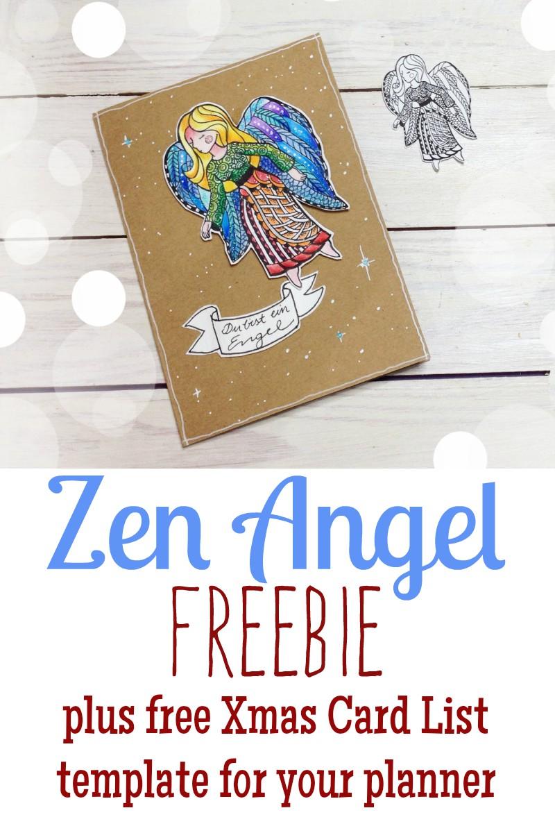 Zen Angel Freebie Pinterest and free planner template