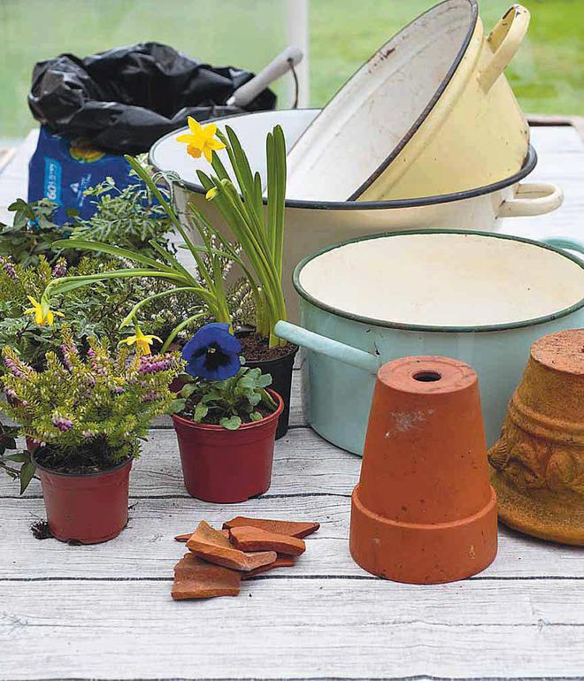 Upcycling-Idee für Blumenampel selbst.de
