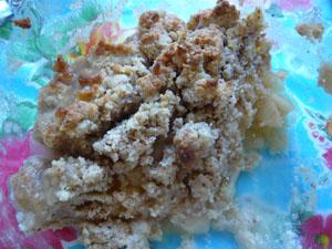 Rhabarber-Marzipan-Crumble