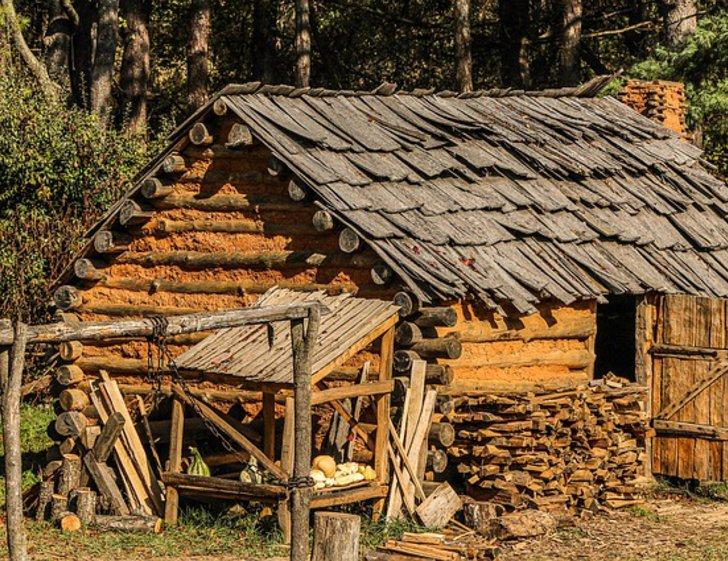 Rustikale Blockhütte