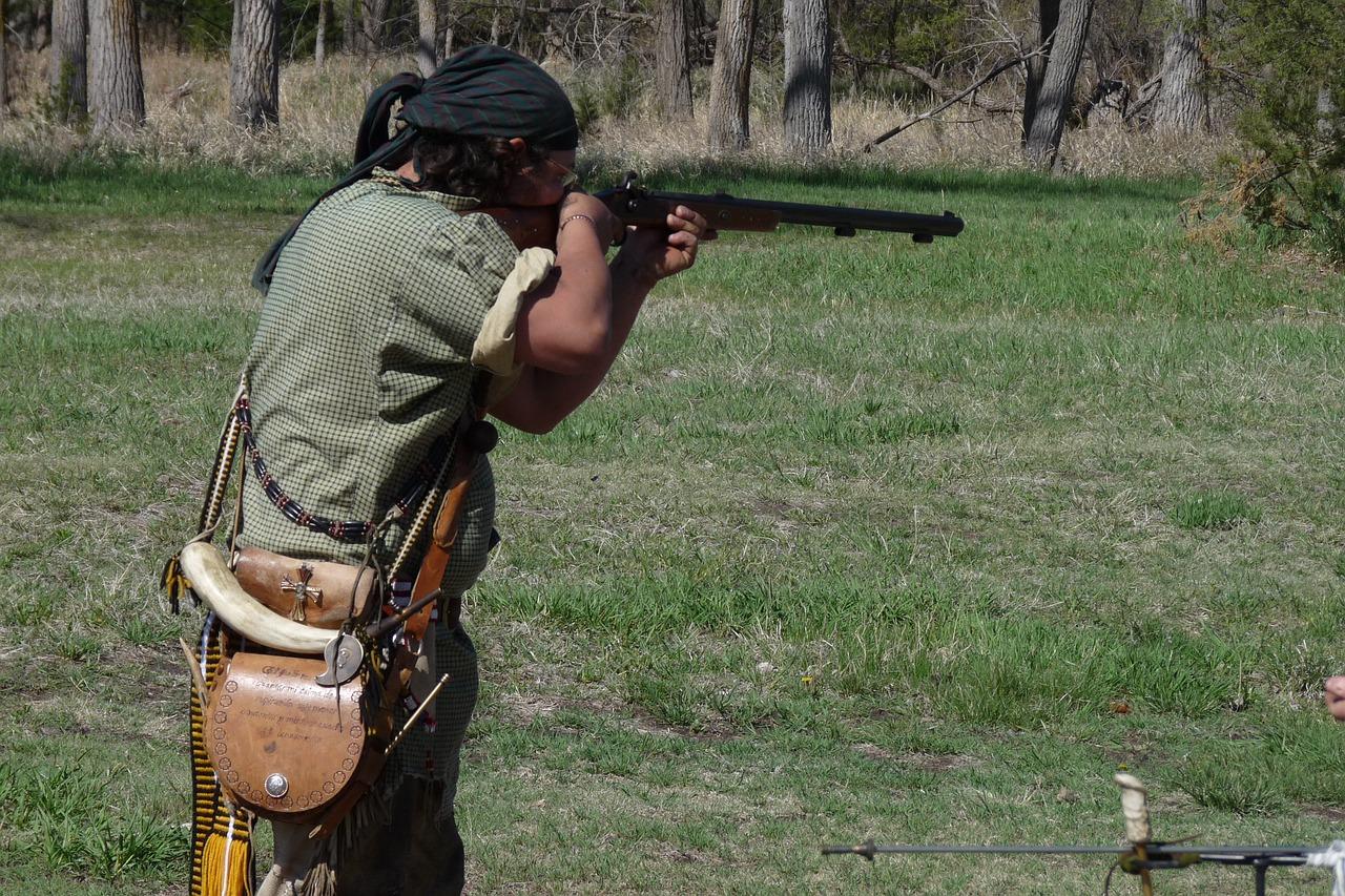 Jäger beim Schuss