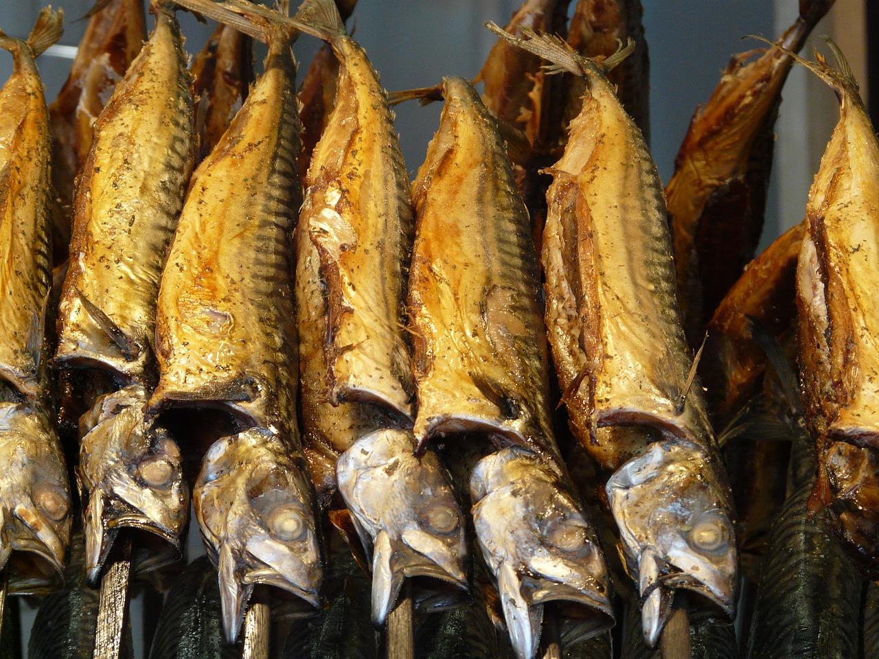 Geräucherte Fische