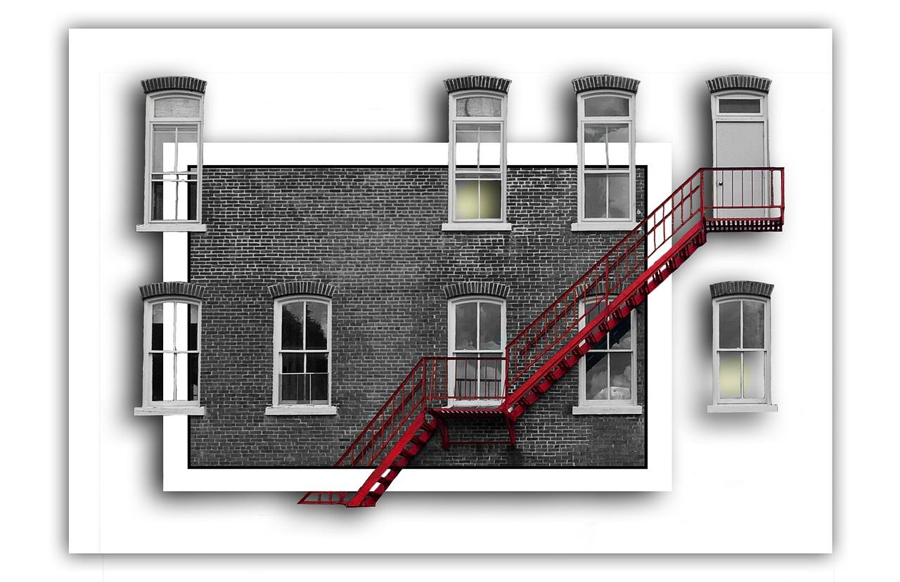 Verfremdete Fassade