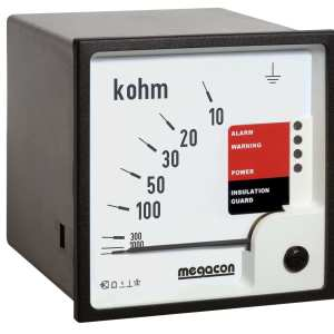 KPM161M Insulation Monitor, System Voltage up to 500VAC, Output Relays, DC Detection, Optional Analog Output