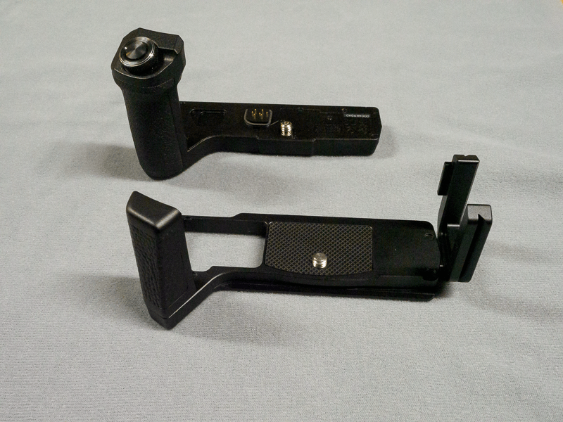 The grips side-by-side