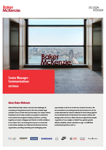 Seldon-Rosser-BakerMcKenzie-OpportunityProspectus-Senior-Manager-Communications