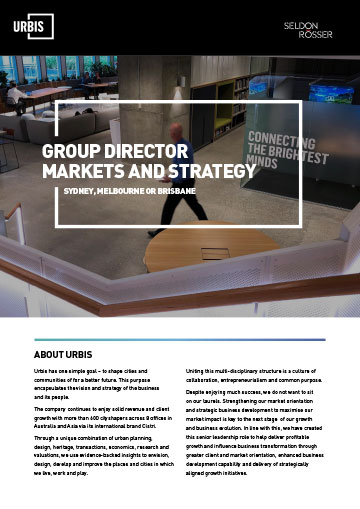 Seldon Rosser - Urbis - Group Director Markets and Strategy