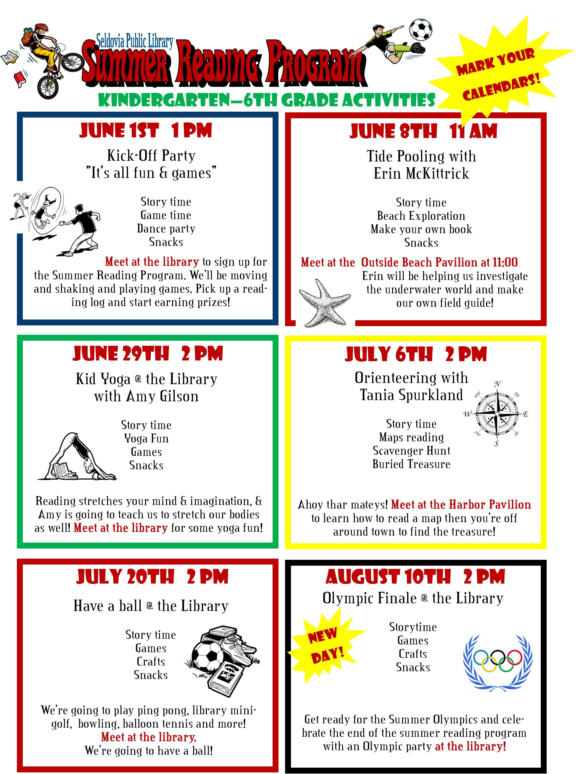 Summer Reading Activities Seldovia Public Library