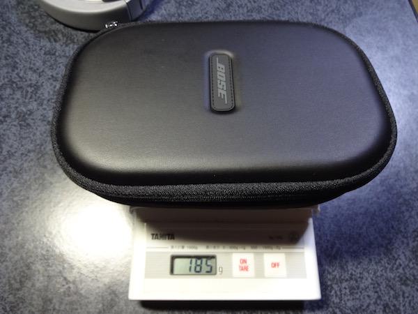 QuietComfort35のポーチの計量