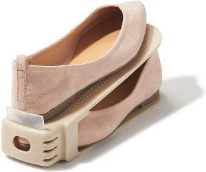 ライクイット ( like-it ) 靴 収納 くつホルダー ローファー 2P 幅8x奥26x高8.8cm ベージュ 日本製