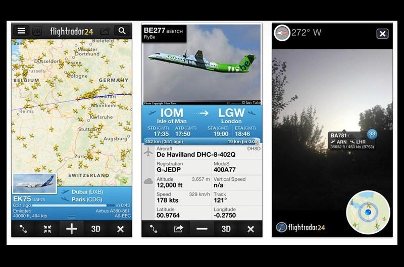 飛行機撮影に便利!飛行機の飛行航路がわかるフライトレーダー Flightradar24
