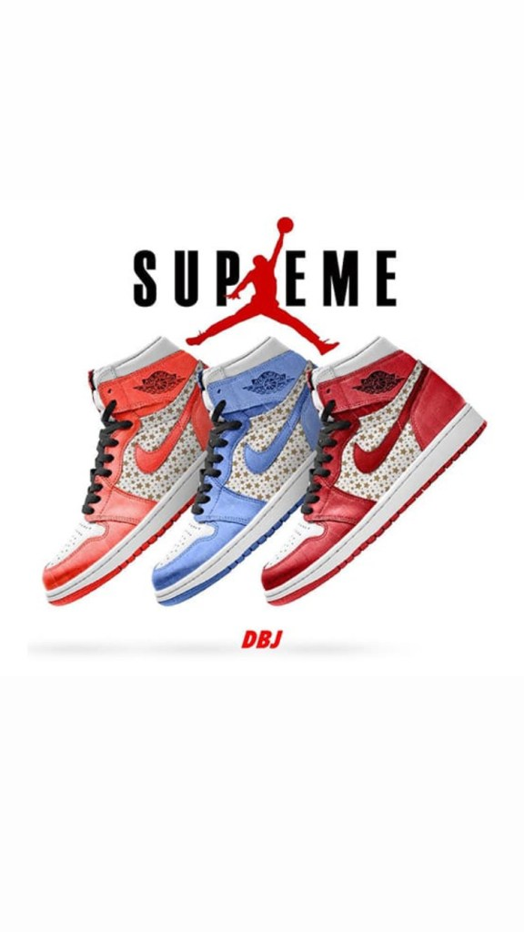 SUPREME x AIR JORDAN 1 High « Varsity Red », « University Blue » & « College Orange »