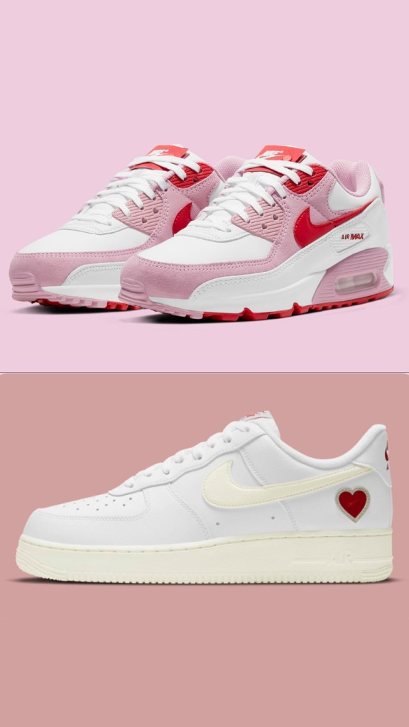 Air Max 90 & Air Force 1 Low « Valentine's Day » 2021