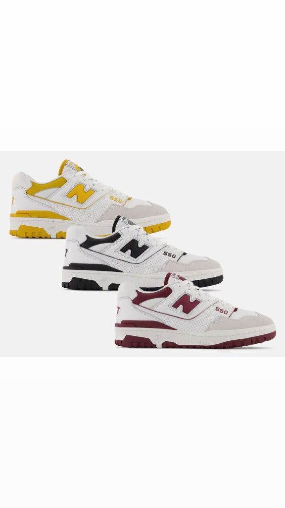 NB 550 in 3 new colors