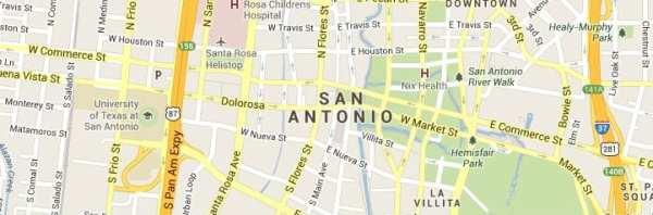 San Antonio Texas Map of Answering Service Coverage Area