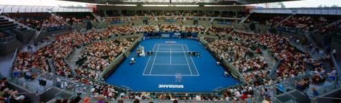 熱戦が繰り広げられるクイーンズランド・テニス・センター
