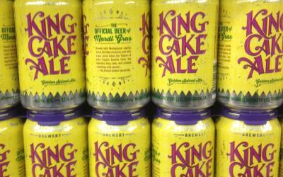 We have @mudbug_brewery King Cake ale at Calandros Mid-city