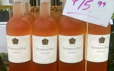 @notoriouspinkwine finally back in stock at our Perkins Rd location. Just in time for the…