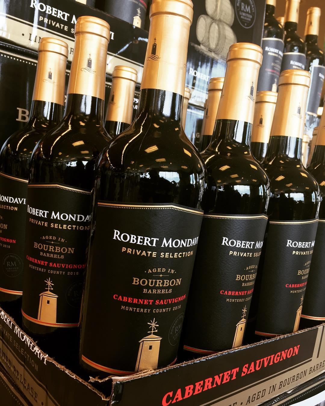 @robertmondavi Bourbon Barrel Aged Cabernet Sauvignon is back in stock at our Perkins Rd location!…