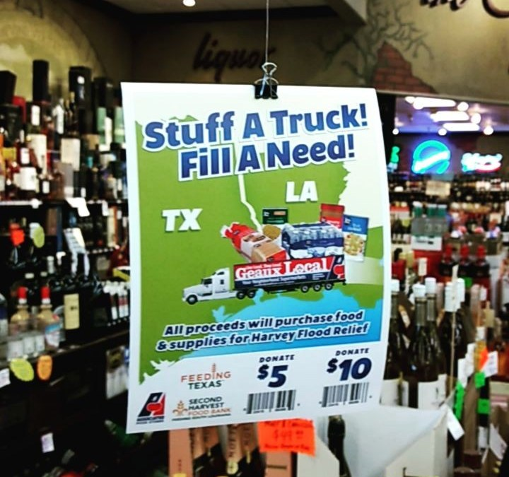 Don't forget – the #StuffATruck #FillANeed Hurricane Harvey fundraiser, food & supply drive is running…