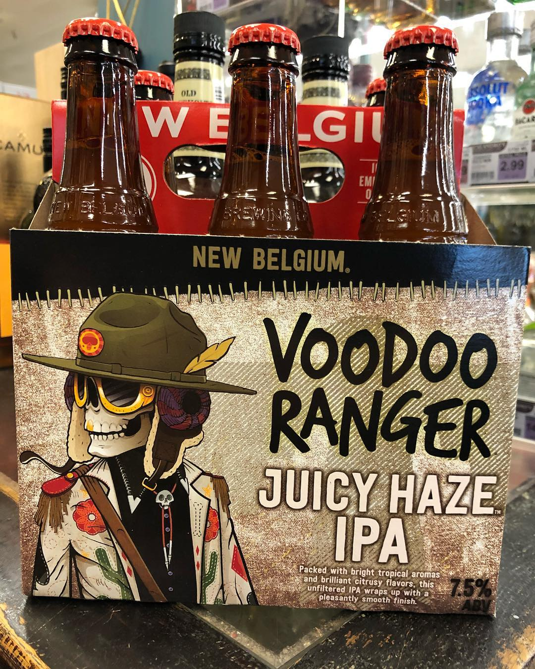 @newbelgium Voodoo Ranger Juicy Hazy IPA is now available at our Perkins Rd location! #beer…