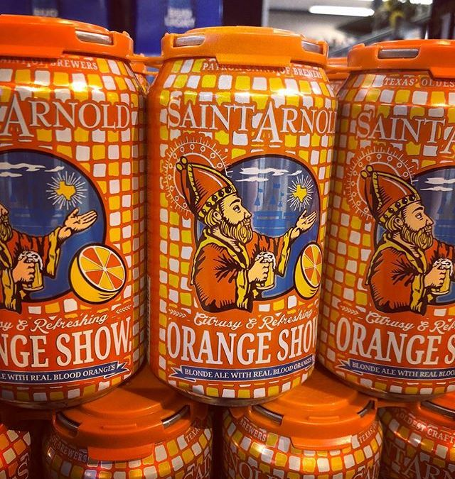 @saintarnoldbrewing Orange Show, a blonde ale with real blood oranges, is now available at our…