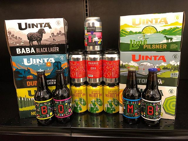 New Brews now in stock at our Perkins Rd location, including @prairieales Deconstructed BOMB! @uintabrewing…