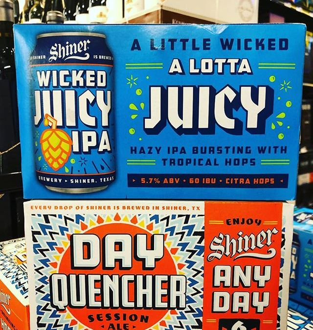 New brews from @shinerbeer now available at our Perkins Rd location! #beer #texasbeer #juicy #spoetzlbrewery…