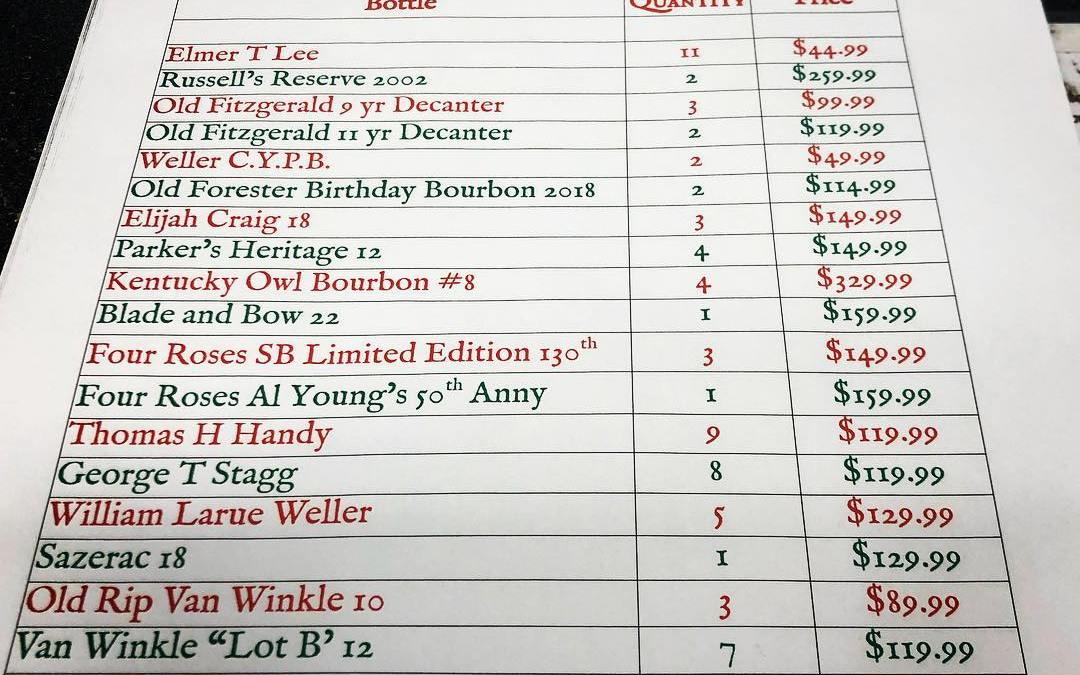 And as promised, here's the list with quantities! Tickets go on sale Thursday at 7…
