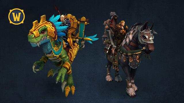 World of Warcraft Battle for Azeroth - Novas Montarias da Edição Deluxe