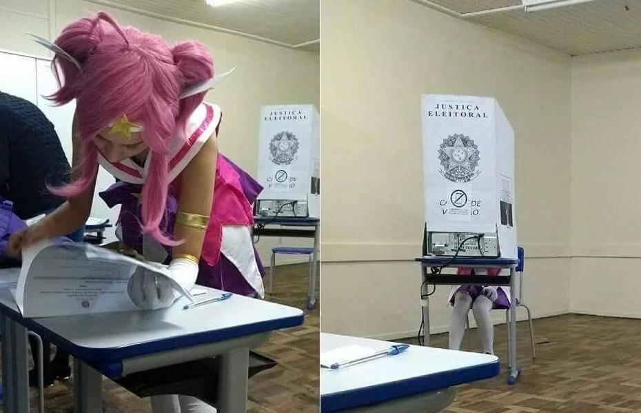 Lux votando nas eleições 2018
